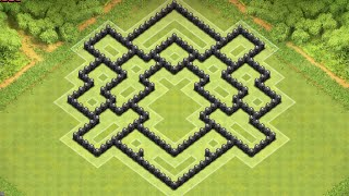 Clash Of Clans: Th8 Best Clan War Defence Base