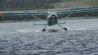 getlinkyoutube.com-DEHAVILLAND BEAVER WATER LANDING