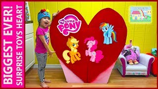 getlinkyoutube.com-BIGGEST SURPRISE TOYS HEART EVER MLP Giant My Little Pony Toy Surprise Eggs Cute Girl ToysReview