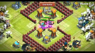 getlinkyoutube.com-Castle Clash HBM Wave E With Immortep(New Hero!) Town Hall Lvl 14