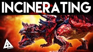 getlinkyoutube.com-Monster Hunter X Incinerating Blade Dinovaldo Special Variant Gameplay