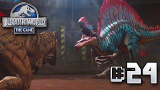 getlinkyoutube.com-Spinosaurus VS T.rex! || Jurassic World - The Game - Ep 24 HD