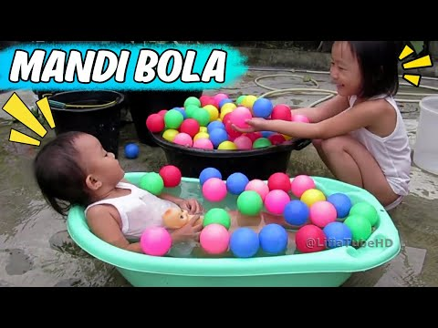 Mainan anak ❤ Asiknya Bermain Air & Mandi Bola - Kids Pool Fun Balls #Kids @LifiaTubeHD