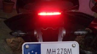 getlinkyoutube.com-Custom made #2 tail light for Pulsar RS200    Modified Pulsar RS200    DIY