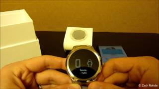 getlinkyoutube.com-New Android Fossil Q Founder Smartwatch Unboxing / Video Review [HD]