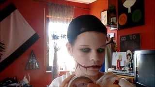 getlinkyoutube.com-Jeff The Killer make-up (cheap/easy) Cosplay