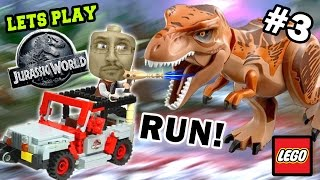 getlinkyoutube.com-Lets Play LEGO Jurassic World Part 3: RUN FROM THE T-REX!!!! PARK SHUTDOWN! (FGTEEV GAMEPLAY)