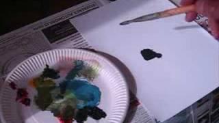 Cours De Peinture Comment Faire Du Noir Avec 3 Couleurs Youtube