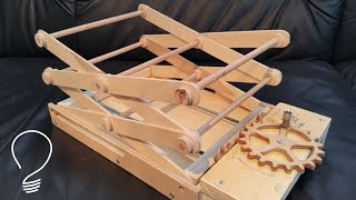 getlinkyoutube.com-Homemade Scissor Lift (Using Wooden Gears)