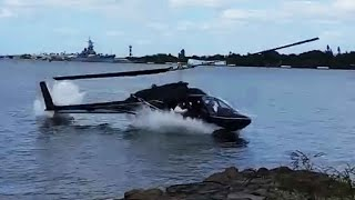 Honolulu helicopter crash caught on camera; CH-53E Super Stallion falls into sea - Compilation