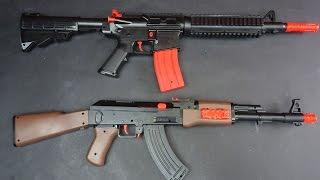 AK 47 / M16 BLASTER MIT MINI DARTS