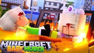 Minecraft Adventures - BAD BOSS BABY HUGO STEALS & CRASHES DONNY'S CAR w/ BABY LEAH!!