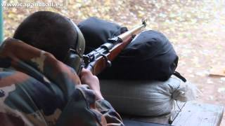getlinkyoutube.com-Shooting the Gewehr 98/40 - accuracy and helmet penetration at 100m