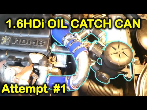 Installation of an oil catch can (Provent 200) in 1.6HDi engine (Peugeot