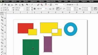 getlinkyoutube.com-COREL DRAW X5 - Agrupación combinación recorte intersección y soldadura de objetos