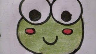 getlinkyoutube.com-Dibuja una Ranita Kawai Fácil aprende a hacer Dibujos Kawai