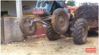 getlinkyoutube.com-Funny compilation of tractor crashes, tractor accidents funny, farm tractor accidents