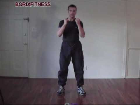 Free kick boxing lessons: front kick basic beginners