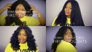 getlinkyoutube.com-Bliss Wigs Kinky Straight Wig Aliexpress (First Thoughts)