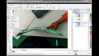 getlinkyoutube.com-artcam relief, 1/3: cross section in CorelDraw, Extrude in ArtCAM.