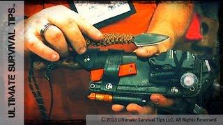 getlinkyoutube.com-NEW! Cool Bushcraft / Survival Sheath - Habilis Bushtools Alpha Rig Sheath Survival Kit