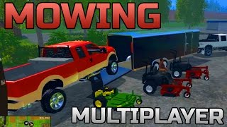 getlinkyoutube.com-FARMING SIMULATOR 2015 | MULTIPLAYER MOWING! | NEW EQUIPMENT!