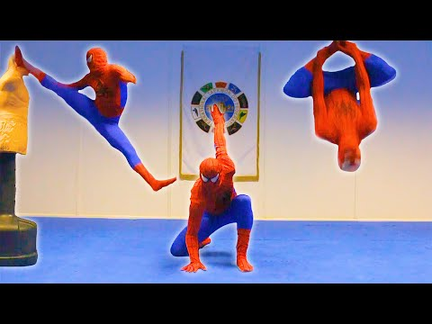 Taekwondo Spiderman | Flips & Kicks