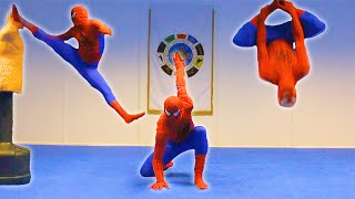 getlinkyoutube.com-Taekwondo Spiderman   Flips & Kicks