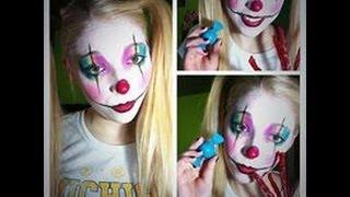 getlinkyoutube.com-Cute and Girly Clown Makeup Tutorial