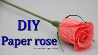 getlinkyoutube.com-Роза. Букеты из конфет. DIY crepe paper rose.