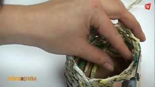 getlinkyoutube.com-Jak zrobić koszyczek z papieru?