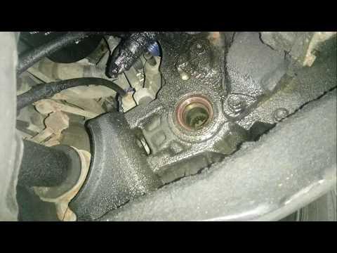 Замена сальника правой полуоси Тойота Королла 1999г (Toyota Corolla e110)