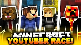 getlinkyoutube.com-Minecraft 1v1v1v1 YOUTUBER PARKOUR RACE! | (RACE TO THE TOP!)