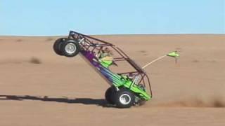 getlinkyoutube.com-Kid does awesome sandrail wheelie at Glamis Dunes.