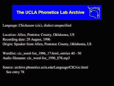 Chickasaw audio: cic_word-list_1996_078
