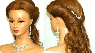 getlinkyoutube.com-Wedding prom hairstyle  for long hair.