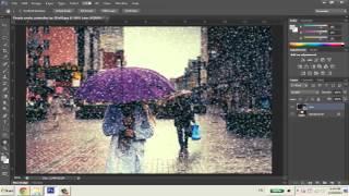 getlinkyoutube.com-Hướng dẫn tạo hiệu ứng mưa rơi trong Photoshop