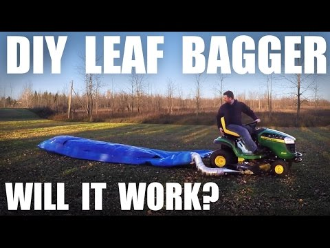 GGC - 69 - Attempting to Build and Use a Cheap Homemade Leaf Bagger (For Garden Mulch)