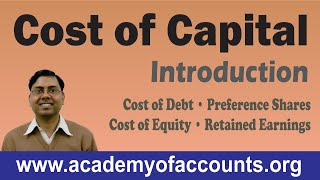 Cost of Capital [Cost of Debt, Preference Shares, Equity and Retained Earnings] ~ FM width=