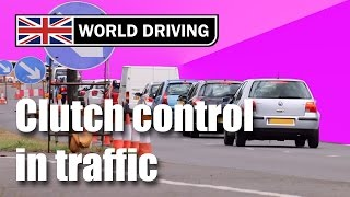 getlinkyoutube.com-Clutch control in traffic driving lesson - learning to drive a manual/stick shift
