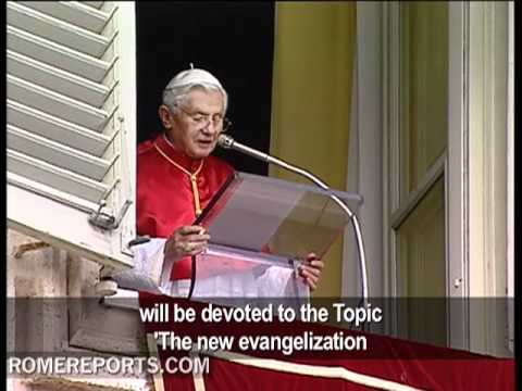 Pope announces new Synod on the new evangelization for 2012