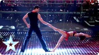 getlinkyoutube.com-Martin and Marielle's highflying dance routine   Semi-Final 2   Britain's Got Talent 2013