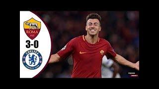 As Roma vs Chelsea : Ldc 2017 Buts et Résumé du match