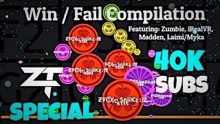 getlinkyoutube.com-Agar.io - ƵŦ Win/Fail Compilation #19 - 40k Subscriber Special!