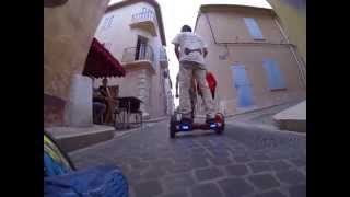 getlinkyoutube.com-Self Balancing, 2 Wheel, Smart Electric Scooter, Gyropode, Mini Segway , Azur-Gyroboard à Cassis