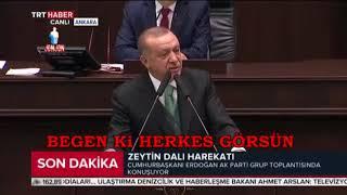 Cumhurbaşkanı Erdoğan, Erzincanlı 10 yaşındaki bir kızın şehitler için yazdığı şiiri okudu!