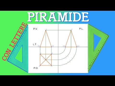 Proiezione Ortogonale di una Piramide a Base quadrata - Liceo Scientifico