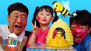 getlinkyoutube.com-라임파파 불쌍한 오징어되다?! 꿀벌어택 보드게임 챌린지 서프라이즈에그 장난감 놀이 Игрушки LimeTube & Toy 라임튜브