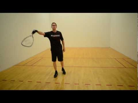 Four Types of Racquetball Lob Serves: Part 1 - The Straight-In Lob