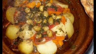 كيفية طبخ طاجين فوق الجمر او الفحم  بالصوت و الصورة